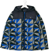 Armani Junior printed padded jacket