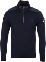 Paul & Shark Navy Quarter Zip Knitted Sweater