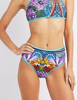 Charlotte Russe Printed High-Waisted Bikini Bottoms