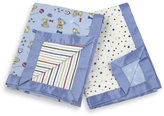 Bed Bath & Beyond Just Born 2-Pack Reversible Flannel Receiving Blankets - Blue