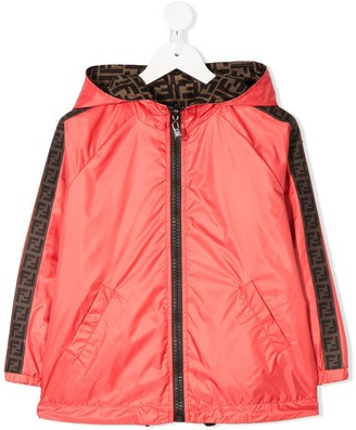 Fendi Kids Side Panelled Hooded Rain Jacket
