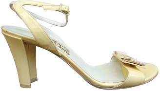Salvatore Ferragamo Yellow Patent leather Sandals