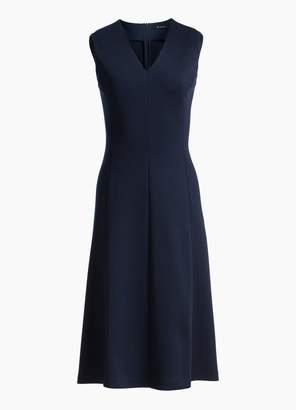St. John Milano Knit V- Neck Dress