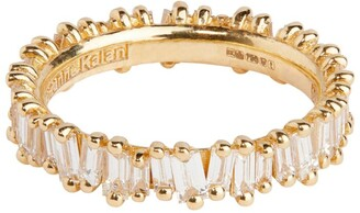 Suzanne Kalan Yellow Gold and Diamond Fireworks Eternity Ring Size 6.5