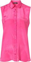 Topshop Sleeveless Silk Shirt