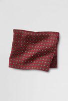 Lands' End Men's Silk Tossed Paisley Pocket Square