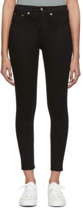 Rag & Bone Black High-Rise Ankle Skinny Jeans