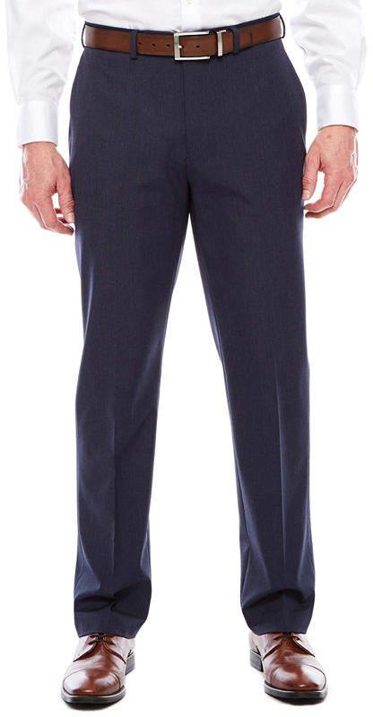 0eaf6f17 Men's Flex Stretch Flat-Front Hemmed-Leg Slim-Fit Suit Pants