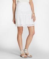 Brooks Brothers Cotton Eyelet Flounce Skirt