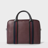 Men's Burgundy Leather 'City Webbing' Large Folio