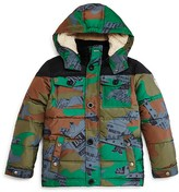 Diesel Boys' Camo Print Puffer Jacket - Sizes 4-16