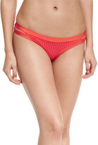 Vitamin A Neutra Perforated Hipster Swim Bottoms, Red