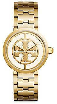 Tory Burch Women's Reva Goldtone Stainless Steel Bracelet Watch