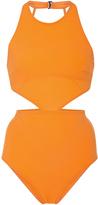 Flagpole Swim Lynn Halter Cutout Bikini