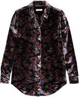 Equipment Essential Printed Velvet Shirt - Purple