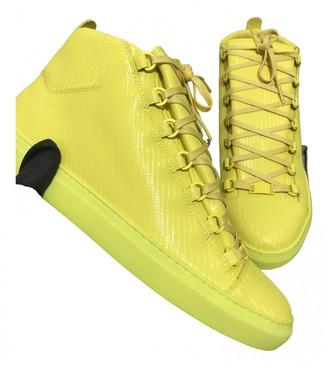 Balenciaga Arena Yellow Cloth Trainers
