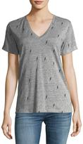 Rails Cara V-Neck Lightning-Bolt Tee