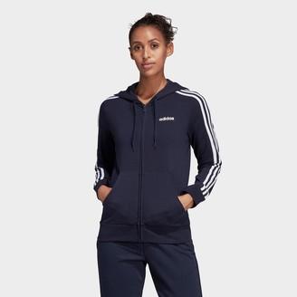 adidas Women's Essentials 3-Stripes Full-Zip Hoodie