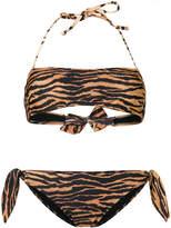 Moschino Tiger print bikini set