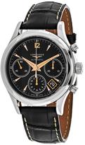 Longines Heritage L27424560 Men's Alligator Leather Automatic Chronograph Watch