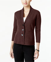 Alfani Three-Button Knit Jacket, Only at Macy's