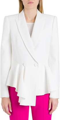 Alexander McQueen Double-Breasted Draped Blazer