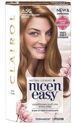 Clairol Nice 'N Easy Lightest Golden Brown Permanent Hair Colour 6.5G
