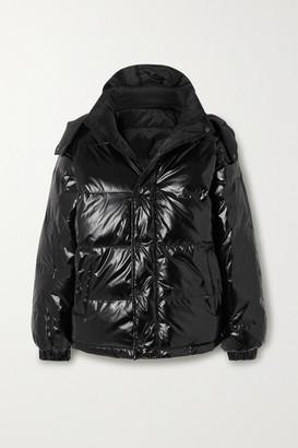 Ksubi Flashback Reversible Quilted Glossed-shell Down Jacket - Black