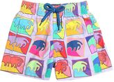 Vilebrequin Waves Print Nylon Swim Shorts