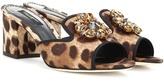 Dolce & Gabbana Embellished Printed Sandals