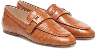 Tod's Timeless croc-effect leather loafers