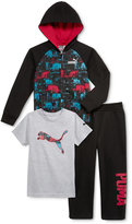 Puma 3-Pc. T-Shirt, Hoodie & Pants Set, Toddler Boys (2T-5T) & Little Boys (2-7)