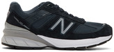 New Balance Navy Made In US 990V5 Sneakers