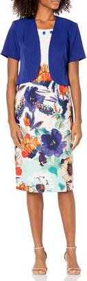 Maya Brooke Women's Floral Painterly Jacket Dress
