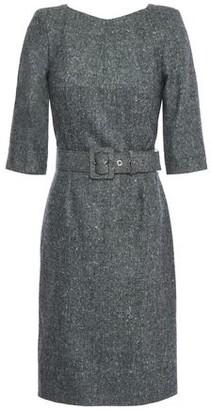 Antonio Berardi Belted Wool-tweed Dress