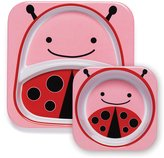 Skip Hop Zoo Tableware, Melamine Plate and Bowl Set, Livie Ladybug