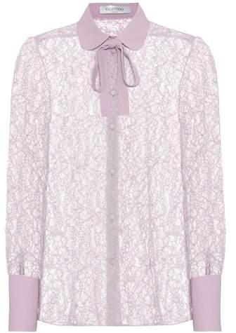 Valentino Collared lace blouse