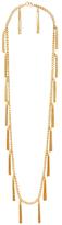 Rachel Zoe Hazel Multi Tassel Fringe Pendant Necklace