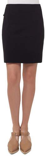 Akris Punto Short Stretch-Jersey Skirt, Black