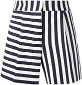 Thom Browne striped mini shorts - women - Silk/Cotton - 40