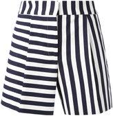 Thom Browne striped mini shorts - women - Silk/Cotton - 40