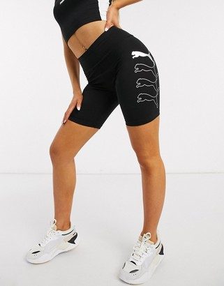 Puma rebel legging shorts in black