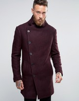 Religion Overcoat With Asymmetric Buttons