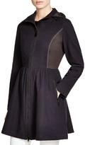 Elie Tahari Lexy Contrast Paneled Mesh Coat