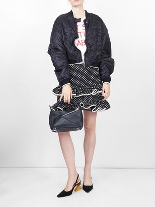 Valentino Polka Dot Frilled Skirt