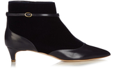 Rupert Sanderson Dawn velvet and leather ankle boots