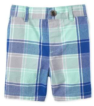 Children's Place The Baby & Toddler Boy Plaid Chino Short