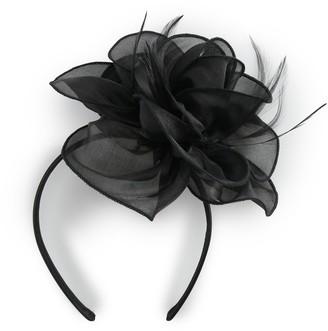 Scala Metallic Organza Fascinator Headband
