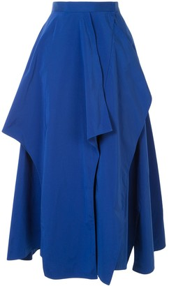 Enfold Layered Midi Skirt
