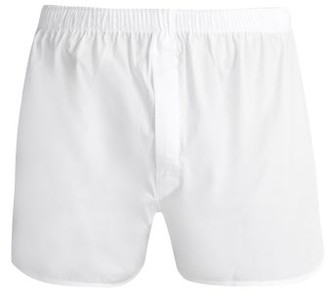 Sunspel Classic Cotton Boxer Shorts - Mens - White